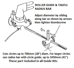 Gas Cutting Roller Guide – TJ1601 to TJ1678